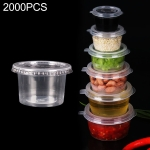 2000 PCS Thick Disposable Transparent Plastic Takeout Packaging Seasoning Box with Lid, Style: 4oz Split Cup 120ml