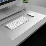 Aluminum Alloy Thick Metal Leather Non-slip Mat Desk Mouse Pad, Size : Large, 600x300mm