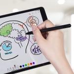 P3 For iPad Tablet PC Anti-mistouch Active Capacitive Pen Stylus Pen(Black)