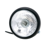 Motorcycle Black Shell Retro Lamp LED Headlight Modification Accessories for CG125 / GN125 (White)