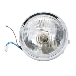 Motorcycle Silver Shell Retro Lamp LED Headlight Modification Accessories for CG125 / GN125(White)