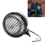 Motorcycle Black Shell Harley Headlight Retro Lamp LED Light Modification Accessories (White)