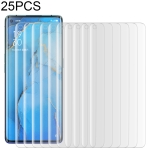 25 PCS For OPPO Reno3 Pro 9H HD 3D Curved Edge Tempered Glass Film