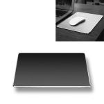 Aluminum Alloy Double-sided Non-slip Mat Desk Mouse Pad, Size : Mini(Black)