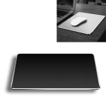 Aluminum Alloy Double-sided Non-slip Mat Desk Mouse Pad, Size : M (Black)