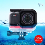 PULUZ 60m Underwater Depth Diving Case Waterproof Camera Housing for Insta360 ONE R 4K Wide-angle Edition(Transparent)
