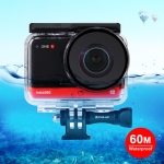 PULUZ 60m Underwater Depth Diving Case Waterproof Camera Housing for Insta360 ONE R Panorama Camera Edition (Transparent)
