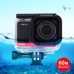 PULUZ 60m Underwater Depth Diving Case Waterproof Camera Housing for Insta360 ONE R 1.0 inch Edition (Transparent)