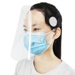 Clear Protective Face Shield Anti-Saliva Splash Anti-Spitting Anti-Fog Anti-Oil Mask with Elastic Band