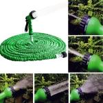 2.5m -7.5m Telescopic Pipe Expandable Magic Flexible Garden Watering Hose with Spray Gun Set(Green)