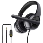 OVLENG OV-P11 360 Degrees Surround Stereo Sound Gaming Headset with Rotating Micphone & Volume Control Cable (Black)