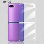 10 PCS for Galaxy Z Flip Shockproof Full Coverage PC Transparent Case (Transparent)