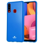 GOOSPERY JELLY Full Coverage Soft Case For Galaxy A20s (Blue)