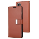 GOOSPERY RICH DIARY For Galaxy S20 PU + TPU Crazy Horse Texture Horizontal Flip Leather Case, with Card Slots & Wallet & Photo frame (Brown)
