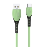 TOTUDESIGN BT-006 Soft Color Series 3A USB-C / Type-C to USB Charging Data Cable, Length: 1.0m(Green)