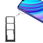 SIM Card Tray + SIM Card Tray + Micro SD Card Tray for OPPO Realme X Lite (Black)
