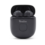 Oneder W16 TWS Bluetooth 5.0 Wireless Bluetooth Earphone with Charging Box, Support HD Call & LED Display Battery(Black)
