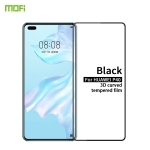 For Huawei P40 MOFI 9H 3D Explosion-proof Curved Screen Tempered Glass Film(Black)