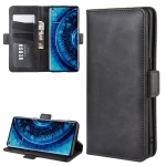 For OPPO Find X2 Dual-side Magnetic Buckle Horizontal Flip Leather Case with Holder & Card Slots & Wallet(Black)