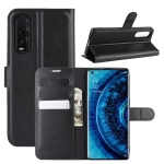 For OPPO Find X2 Litchi Texture Horizontal Flip PU Leather Protectiv Case with Holder & Card Slots & Wallet(Black)