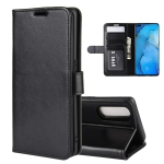 For OPPO RENO 3 PRO R64 Texture Single Horizontal Flip Protective Case with Holder & Card Slots & Wallet& Photo Frame(Black)