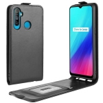 For OPPO Realme C3 (3 Cameras) / Realme 5 R64 Texture Single Vertical Flip PU Leather Protective Case with Card Slot & Photo Frame(Black)