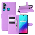 For OPPO Realme C3 (3 cameras)/Realme 5 Litchi Texture Horizontal Flip Protective Case with Holder & Card Slots & Wallet(Purple)
