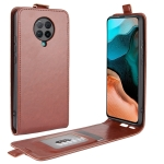 For Xiaomi Redmi K30 Pro R64 Texture Single Vertical Flip Leather Protective Case with Card Slots & Photo Frame(Brown)