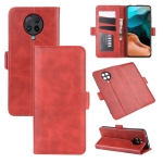 For Xiaomi Redmi K30 Pro Dual-side Magnetic Buckle Horizontal Flip Leather Case with Holder & Card Slots & Wallet(Red)