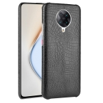 For Xiaomi Redmi K30 Pro Shockproof Crocodile Texture PC + PU Case(Black)