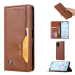 For Huawei P40 Pro Knead Skin Texture Horizontal Flip Leather Case with Photo Frame & Holder & Card Slots & Wallet(Brown)