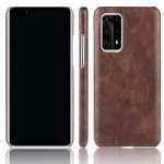 For Huawei P40 Pro+/P40 Pro Plus Shockproof Litchi Texture PC + PU Case(Brown)