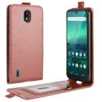 For Nokia 1.3 R64 Texture Single Vertical Flip Leather Protective Case with Card Slots & Photo Frame(Brown)