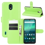 For Nokia 1.3 Litchi Texture Horizontal Flip Protective Case with Holder & Card Slots & Wallet(Green)