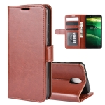 For Nokia C1 R64 Texture Single Horizontal Flip Protective Case with Holder & Card Slots & Wallet& Photo Frame(Brown)