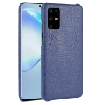 For  Galaxy S20+/S20Plus Shockproof Crocodile Texture PC + PU Case(Blue)