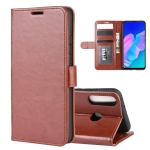For Huawei P40 lite E R64 Texture Single Horizontal Flip Protective Case with Holder & Card Slots & Wallet& Photo Frame(Brown)