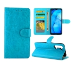 For OPPO Reno3 Crazy Horse Texture Leather Horizontal Flip Protective Case with Holder & Card Slots & Wallet & Photo Frame(baby Blue)