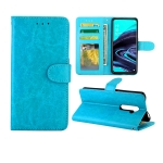 For OPPO Reno2 Crazy Horse Texture Leather Horizontal Flip Protective Case with Holder & Card Slots & Wallet & Photo Frame(baby Blue)