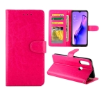For OPPO A31/A8 Crazy Horse Texture Leather Horizontal Flip Protective Case with Holder & Card Slots & Wallet & Photo Frame(Magenta)