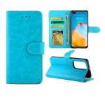 For Huawei P40 Crazy Horse Texture Leather Horizontal Flip Protective Case with Holder & Card Slots & Wallet & Photo Frame(baby Blue)