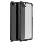 For iPhone SE 2020 Four-corner Shockproof TPU + PC Protective Case(Black)