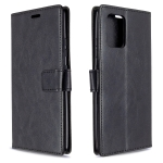 For Galaxy A91 Crazy Horse Texture Horizontal Flip Leather Case with Holder & Card Slots & Wallet & Photo Frame(black)