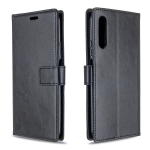 For Huawei Y9S Crazy Horse Texture Horizontal Flip Leather Case with Holder & Card Slots & Wallet & Photo Frame(black)