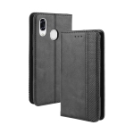 For ZTE Libero S10  Magnetic Buckle Retro Crazy Horse Texture Horizontal Flip Leather Case  , with Holder & Card Slots & Photo Frame(Black)