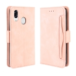 For  ZTE Libero S10 Wallet Style Skin Feel Calf Pattern Leather Case ,with Separate Card Slot(Pink)