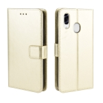 For ZTE Libero S10 Retro Crazy Horse Texture Horizontal Flip Leather Case , with Holder & Card Slots & Photo Frame(Gold)