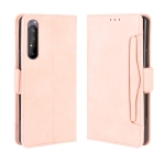 For Sony Xperia 1 II  Wallet Style Skin Feel Calf Pattern Leather Case ,with Separate Card Slot(Pink)