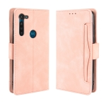 For Motorola Moto G8 Power Wallet Style Skin Feel Calf Pattern Leather Case ,with Separate Card Slot(Pink)