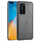 For Huawei P40 Pro Shockproof Crocodile Texture PC + PU Case(Black)